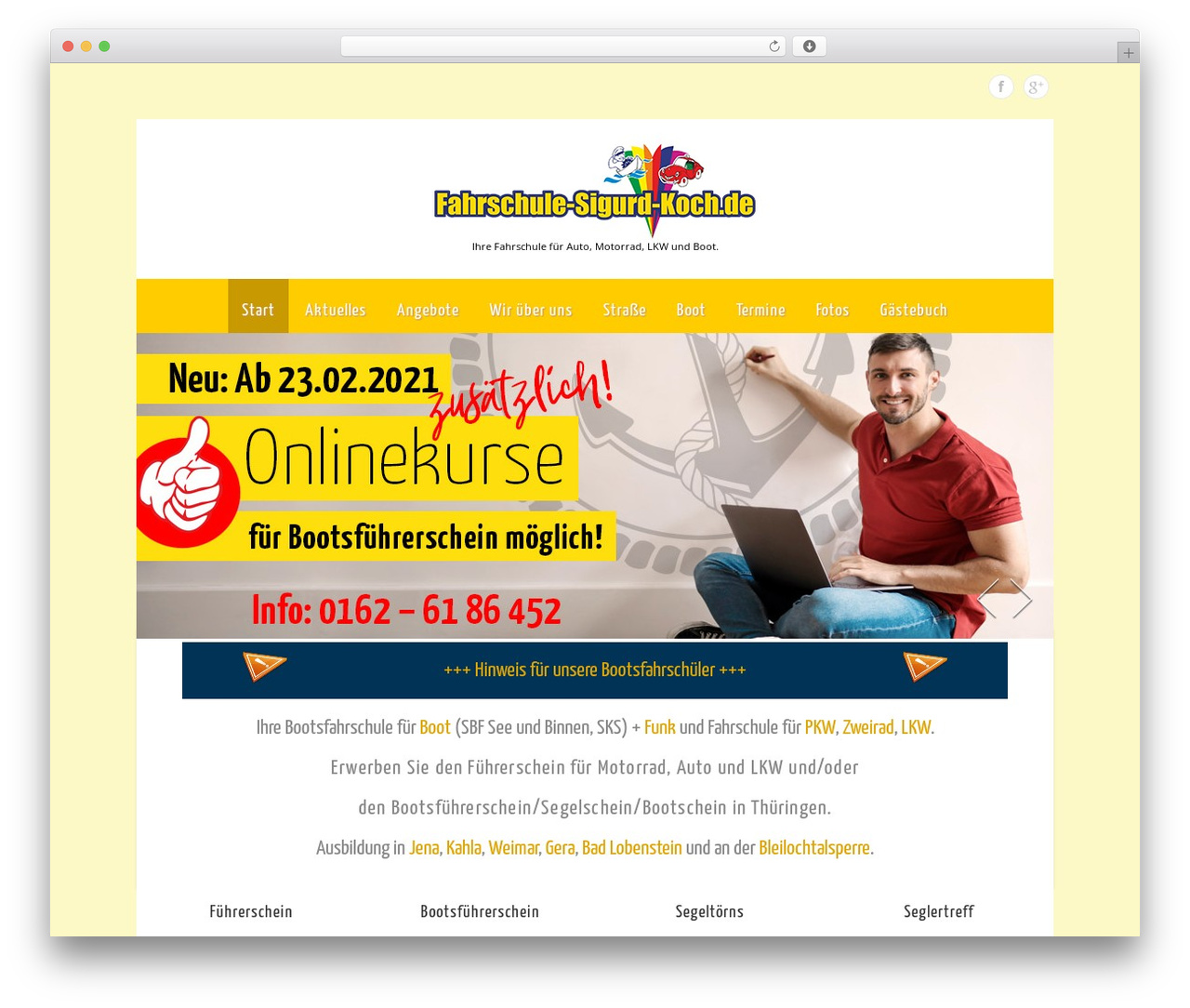 Theron Lite WordPress theme design - fahrschule-sigurd-koch.de