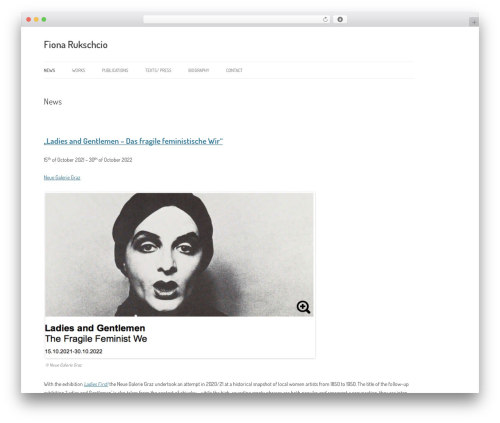 Twenty Twelve best free WordPress theme - fiona-rukschcio.net