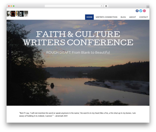 Tyler WordPress theme design - faithandculturewriters.com