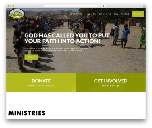 WordPress template Born To Give - faithquestmissions.org