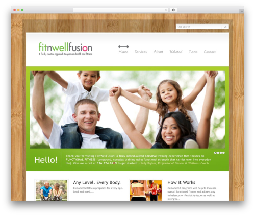 WordPress Theme Number gym WordPress theme - fitnwellfusion.com
