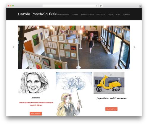 WordPress theme Portafolio - freie-kunstschule-korschenbroich.de