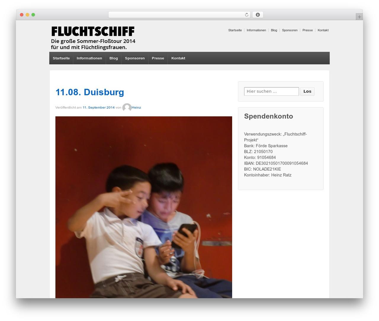 WordPress theme Responsive - fluchtschiff.de