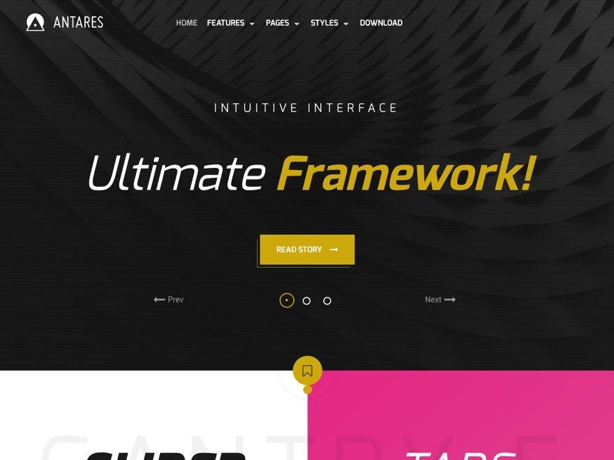 WordPress website template Antares