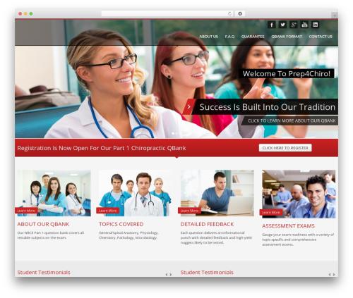 Kallyas WordPress template - prep4chiro.com