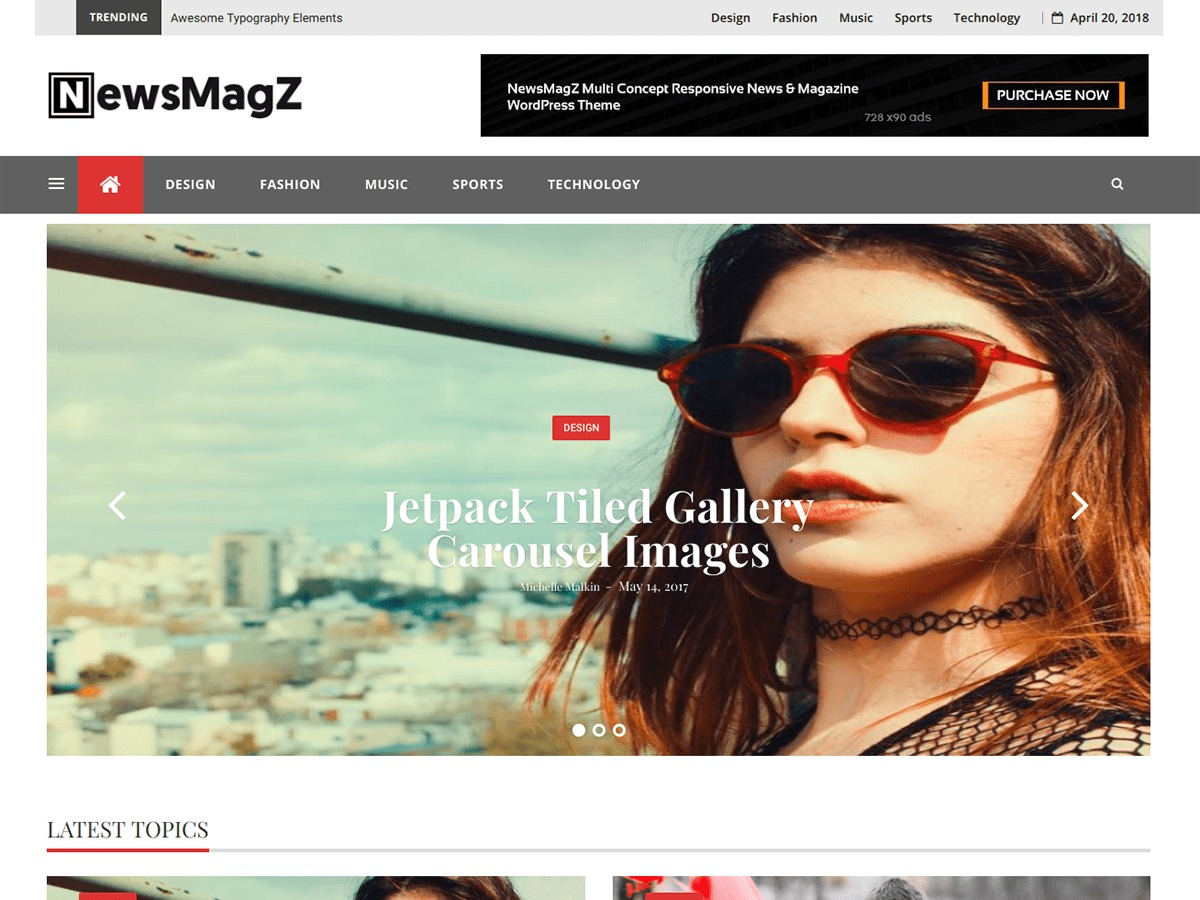 NewsMagz WordPress template for business