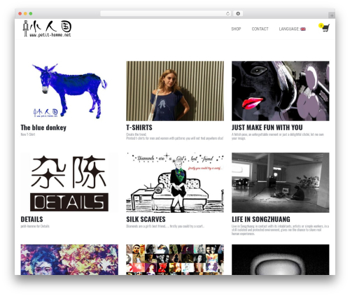 Shopera best free WordPress theme - petit-homme.net