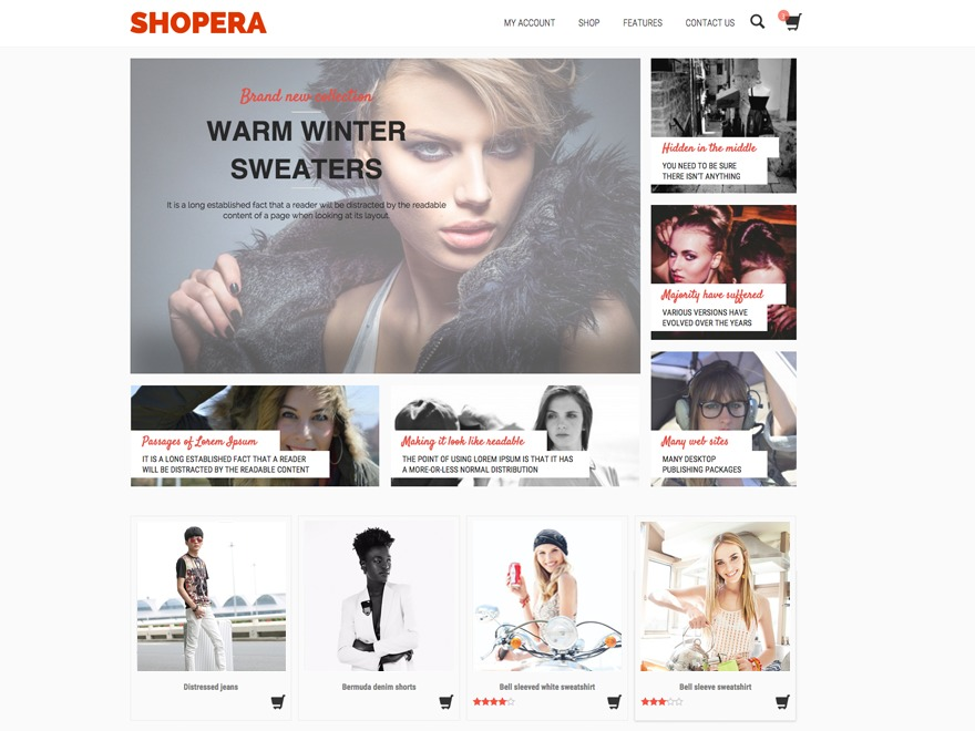 Shopera Child WordPress store theme