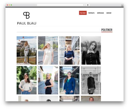 Tesla best free WordPress theme - paulblau.com