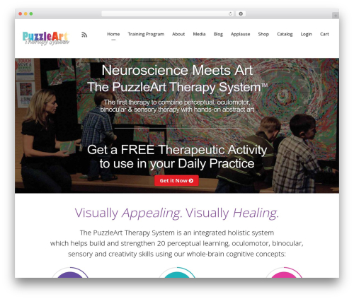 Themify Corporate WordPress website template - puzzlearttherapy.com