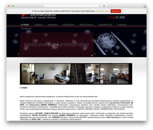 Welcome Inn WordPress theme - pracowniaprotetyczna.com