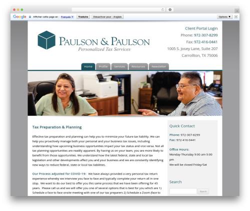 WordPress theme Customized - paulsonandpaulson.net