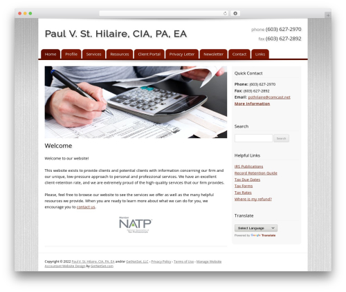 Customized WordPress template for business - paulsthilaire.com