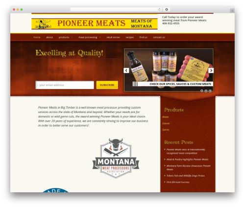 Genesis best WordPress theme - pioneermeatsmt.com