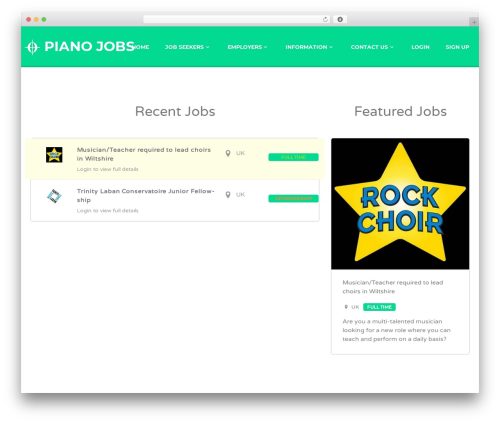 Jobify business WordPress theme - piano-jobs.com