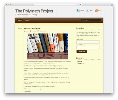 Notepad Theme WordPress theme by Nick La