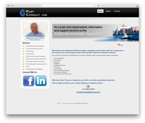 Orion WordPress template for business - port-consult.com