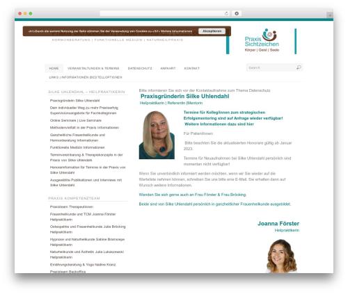 Platform WordPress theme - praxis-sichtzeichen.de/wp