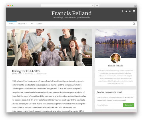 Theme WordPress Bliss by Bluthemes - pelland.me