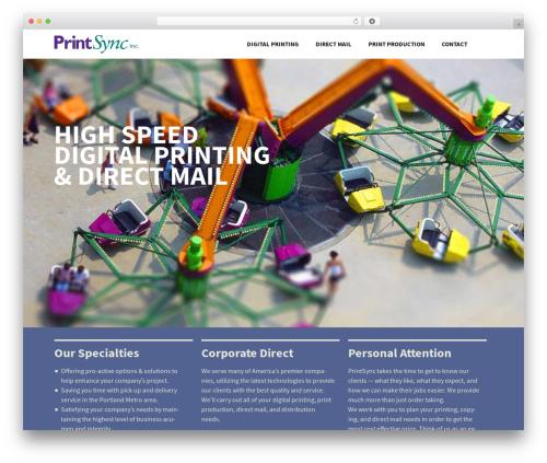 Twenty Thirteen WordPress theme - printsync.com