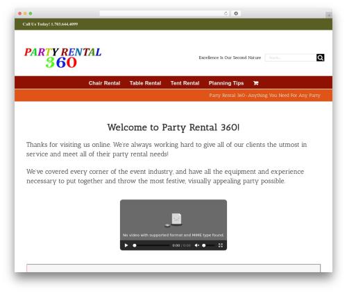 WordPress popup-press plugin - partyrental360.com