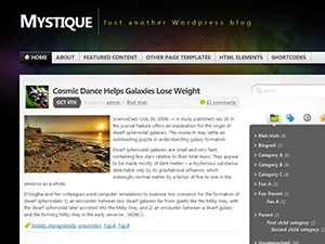 WordPress website template Mystique Old
