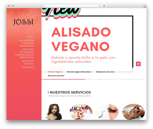 BeautySpot WordPress theme - peluqueriayesteticajossi.com