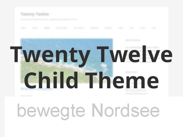 Best WordPress theme Twenty Twelve Child by PabstWP