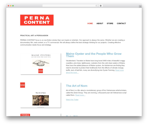 Clearly Modern theme WordPress - pernacontent.com