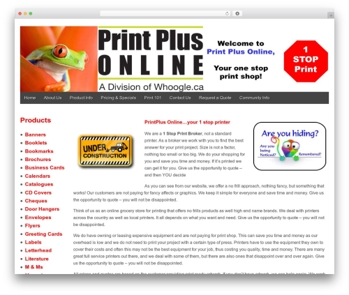 Gridiculous free WordPress theme - printplusonline.ca