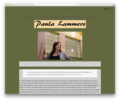 Theme WordPress Encore - paulalammers.com