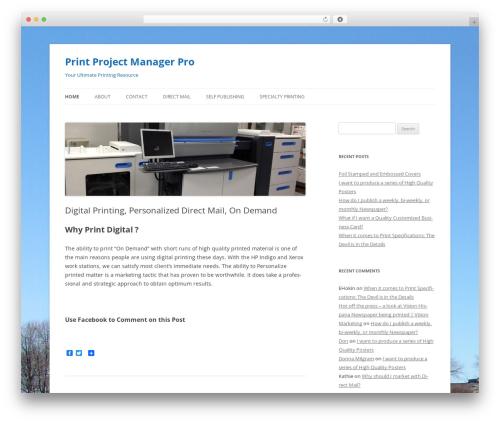 Twenty Twelve WP template - printprojectmanager.com