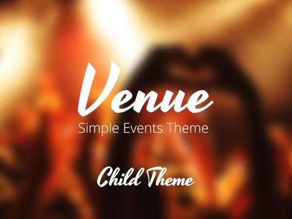 VenueX Child Theme WordPress website template