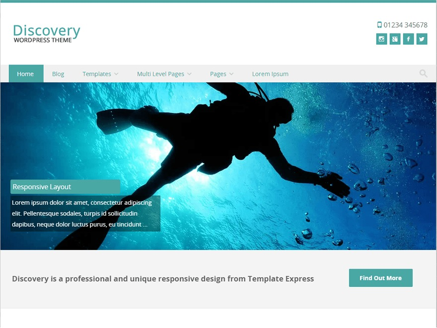 WordPress theme Discovery