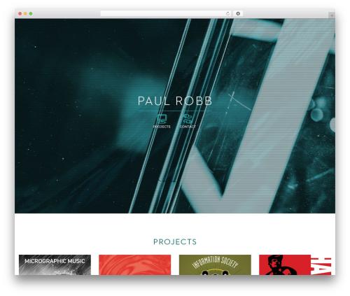 WordPress theme Jupiter - paulrobb.com