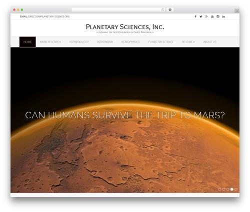 WordPress website template Oceanic Premium - planetary-science.org