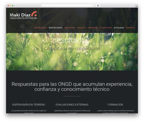Avada WordPress theme - inakidiaz.org