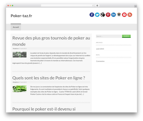 Coller WordPress page template - poker-taz.fr