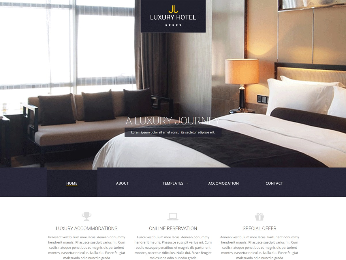 LuxuryTS best hotel WordPress theme