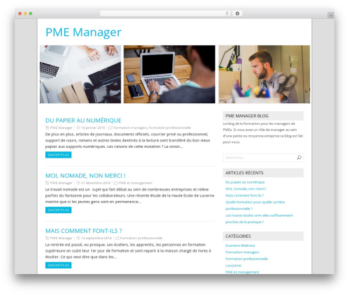 NatureSpace free WordPress theme - pmemanager.ch