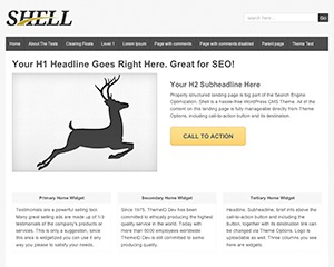 Shell Lite landing page template WordPress