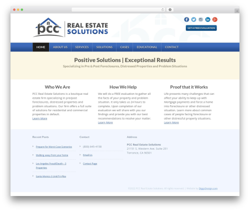 Theme real estate template WordPress - pccresolutions.com