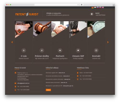 Themis - Law Business WordPress Theme WordPress template for business - patent-iurist.sk