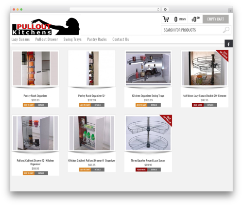 Bazar premium WordPress theme - pulloutkitchens.com