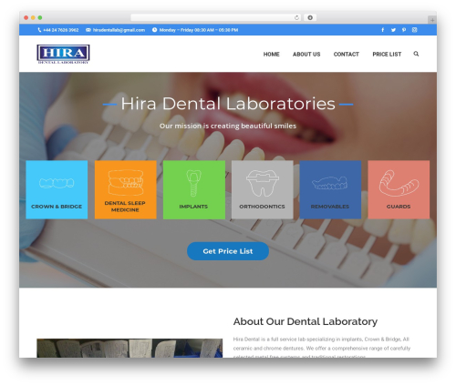 Best WordPress theme The7 - hiradentallab.com