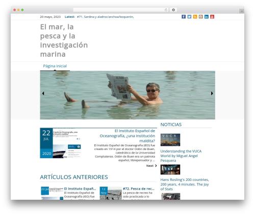 News Magazine WordPress news template - pereoliver.com