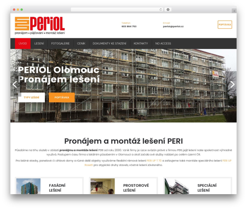 Restore WordPress shop theme - periol.cz