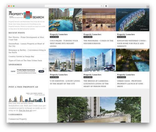 Twenty Fifteen WordPress page template - propertysearch.o9village.com