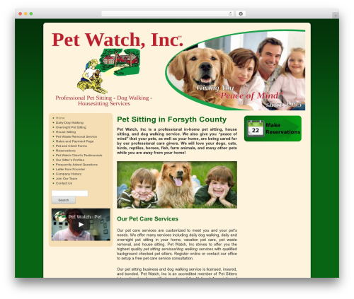 WP theme Weaver - petwatchtoday.com