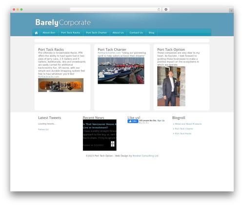 Barely Corporate business WordPress theme - porttackoption.com
